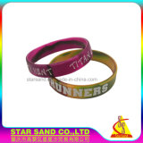 Best Price Personalized Silicone Bracelet with Swirl Color and Deboss Logo