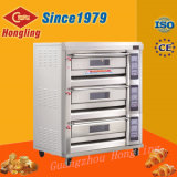Wholesales Bakery Machinery 3 Deck 6 Tray Gas Oven