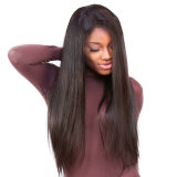 Pre Plucked Full Lace Human Hair Wigs Straight 130% Density Glueless Brazilian Full Lace Wig with Baby Hair