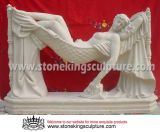 Hand Carved Marble Carving Sculpture for Garden (SK-2202)
