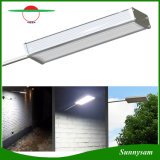 Solar Microwave Radar Motion Sensor Light 48 LED 800lm Outdoor Waterproof Security Wall Lamp for Patio Yard Garden