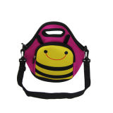 Lovely Children Cartoon Neoprene Lunch Bag with Shoulder Strap