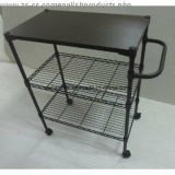 Adjustable Epoxy Multi-Functional Metal Kitchen Dining Cart