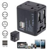 Universal Power Adapter Electric Converter Us/Au/UK/EU World USB Travel Plug