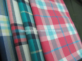 Yarn Dyed Cotton Flannel Check Fabric with Stretch-Lz6522