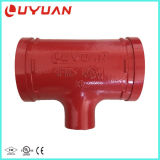 UL FM Approved Grooved Reducing Tee