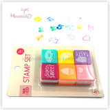 6 Pack Plastic Self Inking Stamps Toy for Kids