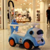 Hot Selling Cartoon Carrier Engineering Baby Walking Car with Push