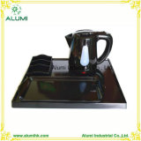 0.8L Black Plastic Electric Kettle Tray Set