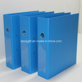 Blue / Black A4 PP Lever Arch File Folder with Metal Edge Protector and Spine Label Pocket