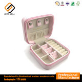 Small Portable PU Leather Travel Jewelry Box Display for Earrings Necklace Rings