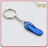 Promotion Gift Custom Flip Flop Shape Metal Keychain