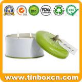 Round Metal Tin Box for Aromatherapy Candles