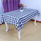 Cheapest Polyester Hotel Restaurant Rectangle Grid Table Cloth (DPF107102)