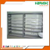 Drug Store Medical Shop Pharmacy Rack with Sloping Shelves and Drawer System