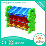 Children′s Furniture Plastic Toy Assorting Shelf Cabinet