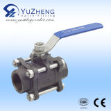 Stainless Steel 3 Piece Carbon Steel Thread Ball Valve