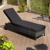Outdoor Garden Furniture Cheap Large Rattan Lounge Sofa Bed