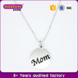 Personalized Alloy Engraved Tag Mom Charm Necklace