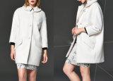 Ladies White Eight-Sleeve Jacket Winter Fashion Chic Jacket