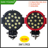 Hot Model LED Work Light LED Driving Light LED Headlight 51W 6inch