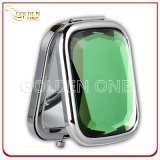 Promotional Gift Shiny Crystal Folding Metal Pocket Mirror