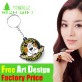 Attractive Doll Diamond Floating Pattern Soft PVC Keyring as Promotion Gift