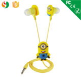 New Funny Cartoon Earphone OEM Cartoon Minions Earphone