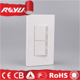 House Office Hotel Use Wall Switch, 10A 2 Gang 3 Way / 2 Gang 1 Way Electric Light Switch Plate Switch