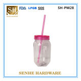 New Design 26oz Double Wall Stainless Steel Mason Jar with Handle and Straw