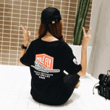 Cotton Women′s Painted T-Shirt with Custom Logo