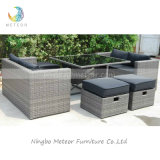 Garden Wicker Sofa Cube Dining Set Outdoor Rattan Patio Furniture (MTC-238)