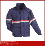 High Visibility Reflective Navy Blue Jacket Parka Safety Workwear (W375)