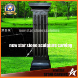 Chinese Black Square Pillar for Decoration