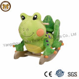 Wholesale Best Selling Kids Wooden Plush Toys Rocking Animals Frog