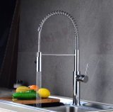 Factory Design Pull Down Brass Tap Spring Kitchen Spray Mixer Faucet (S30A)