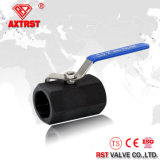 1PC Hexagonal Stainless Steel / Wcb Floating Thread Ball Valve