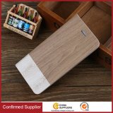 New Wallet Case Wood Kickstand Folio Flip Mobile Phone Case