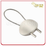 Blank Oval Shape Cable Metal Key Holder