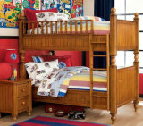 American Style Solid Wood Bunk Bed Children Bunk Bed (M-X1004)
