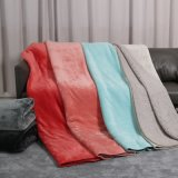 Wholesale China Factory 100% Polyester Luxury Super Warm Soft Micro Fiber Solid Color Travel Bedroom Baby Flannel Coral Sherpa Throw Blanket