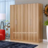 Walnut Maple White Panel Wardrobe