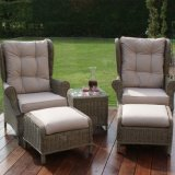 Well Furnir-Rattan Supplier Manufacturing Garden Furniture High Back 3 Piece Lounge Set