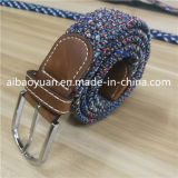 Multi Color Braided Knit Strap Elastic Belt