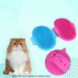 Rubber Pet Bath Brush Comb with Fixed Band
