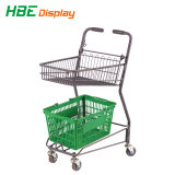 Double Basket Supermarket Shopping Trolley