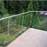 8mm, 10mm, 12mm, Clear Toughened Balustrade Glass