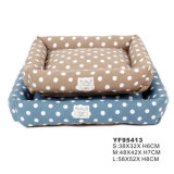 Fine Pet Products Soft Plush Cute DOT Hot Dog Travel Bed