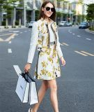 2015 Autumn and Winter Europe Fashion Ladies Two-Piece Dress Suits