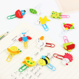 Learning Office Supplies Cartoon Wooden Cute Animal Paperclip Bookmarks Clips